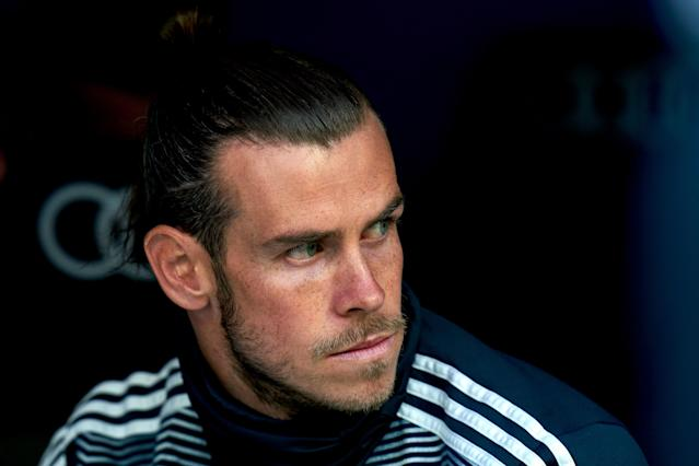 Gareth Bale on the bench during the La Liga match between Real Madrid and Real Betis (Photo by Quality Sport Images/Getty Images)