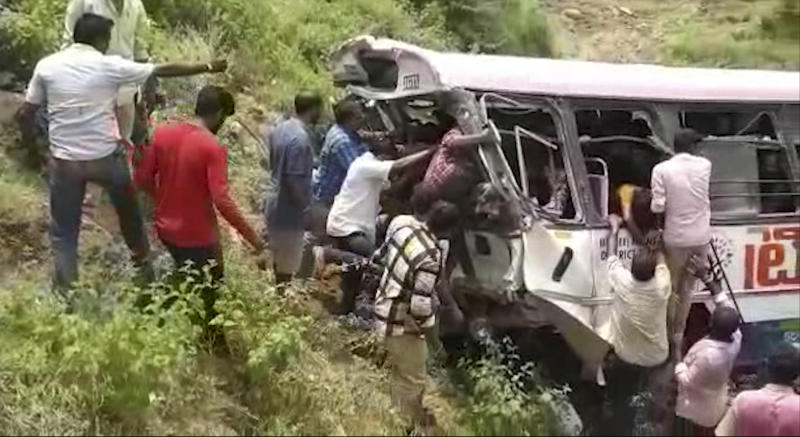 Horrific bus accident in Telangana claims more than 40 lives