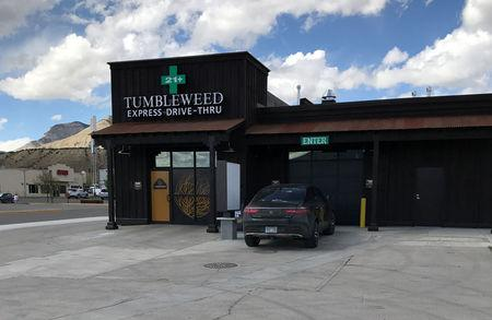 Tumbleweed Express Drive-Thru the nation's first first drive-thru marijuana dispensary in Parachute Colorado