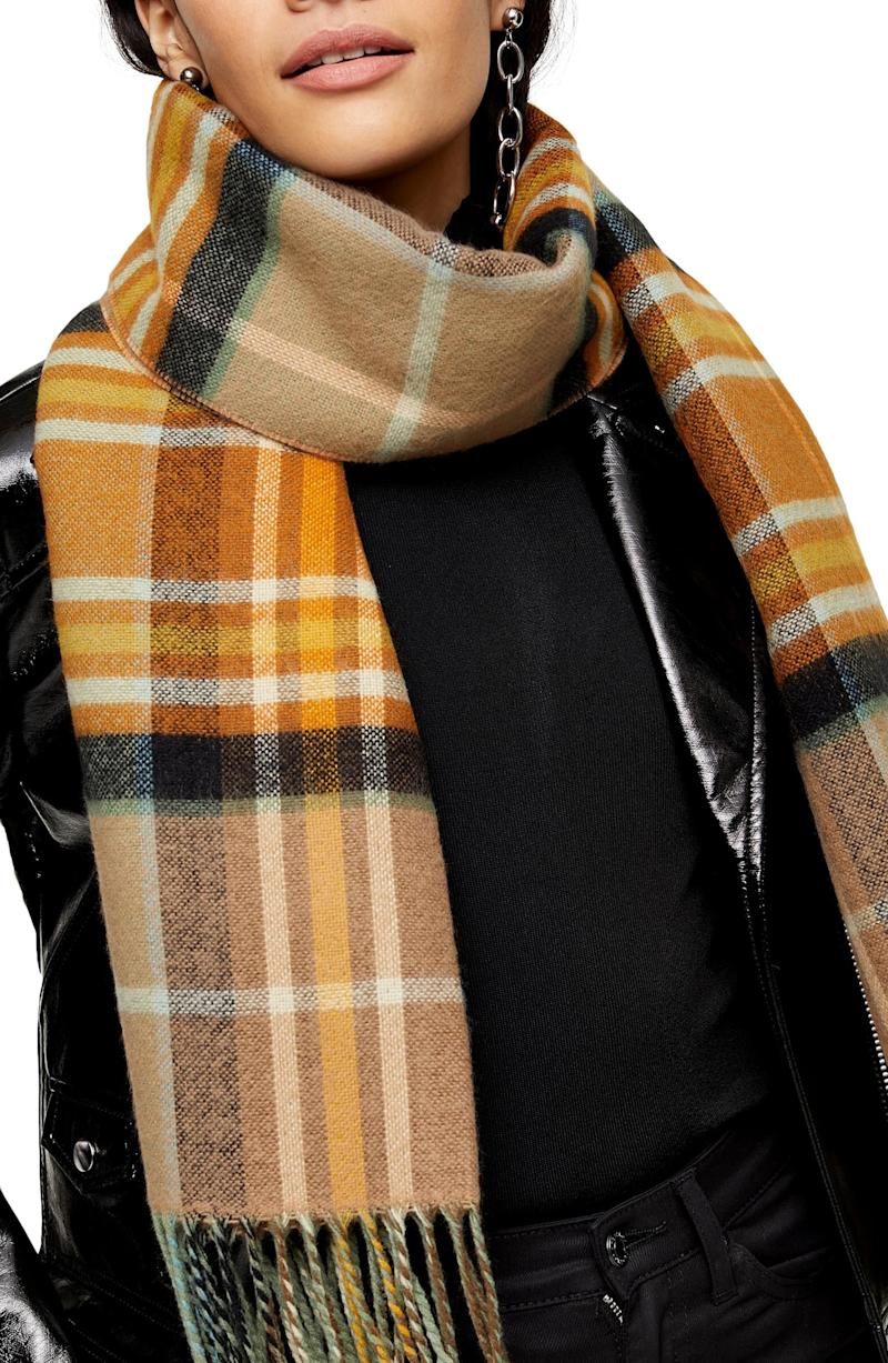 Topshop Lightweight Check Scarf. Image via Nordstrom.