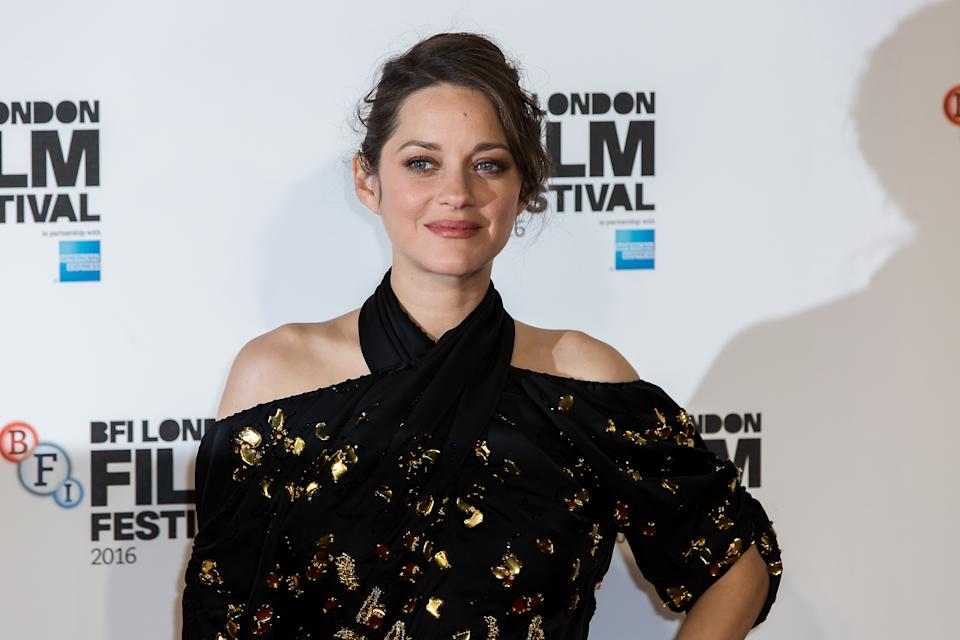 Actress Marion Cotillard poses for photographers on arrival at the premiere of the film 'It's Only The End Of The World', showing as part of the London Film Festival in London, Friday, Oct. 14, 2016.  (Photo by Grant Pollard/Invision/AP)