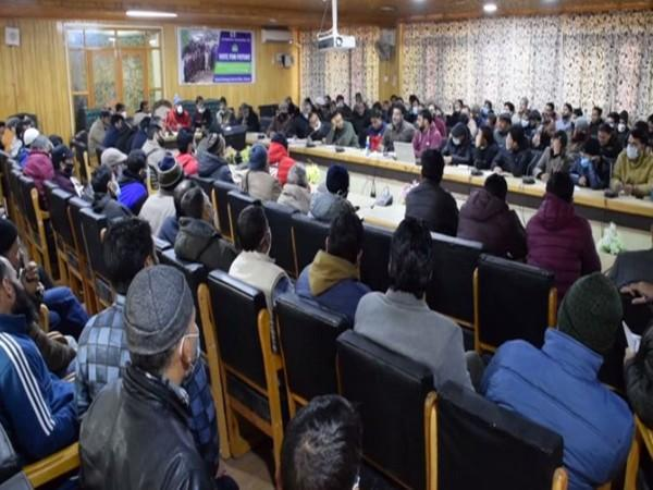 The district-level master trainers imparted training to the polling staff including presiding officers in two sessions. (Photo/ANI)