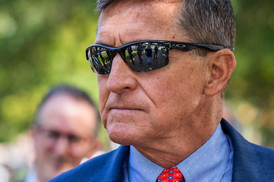 Michael Flynn, President Donald Trump's former national security adviser, leaves the federal court following a status conference with Judge Emmet Sullivan, in Washington, Sept. 10, 2019.