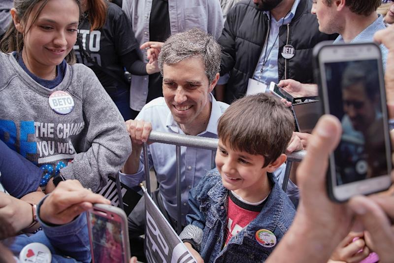 Former Texas Congressman Beto O'Rourke pointed out that he helped boost voter turnout in Texas -- particularly among the young -- to some of its highest levels in years (AFP Photo/PAUL RATJE)