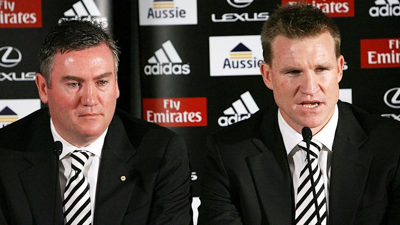Pictured here, Collingwood president Eddie McGuire and coach Nathan Buckley.