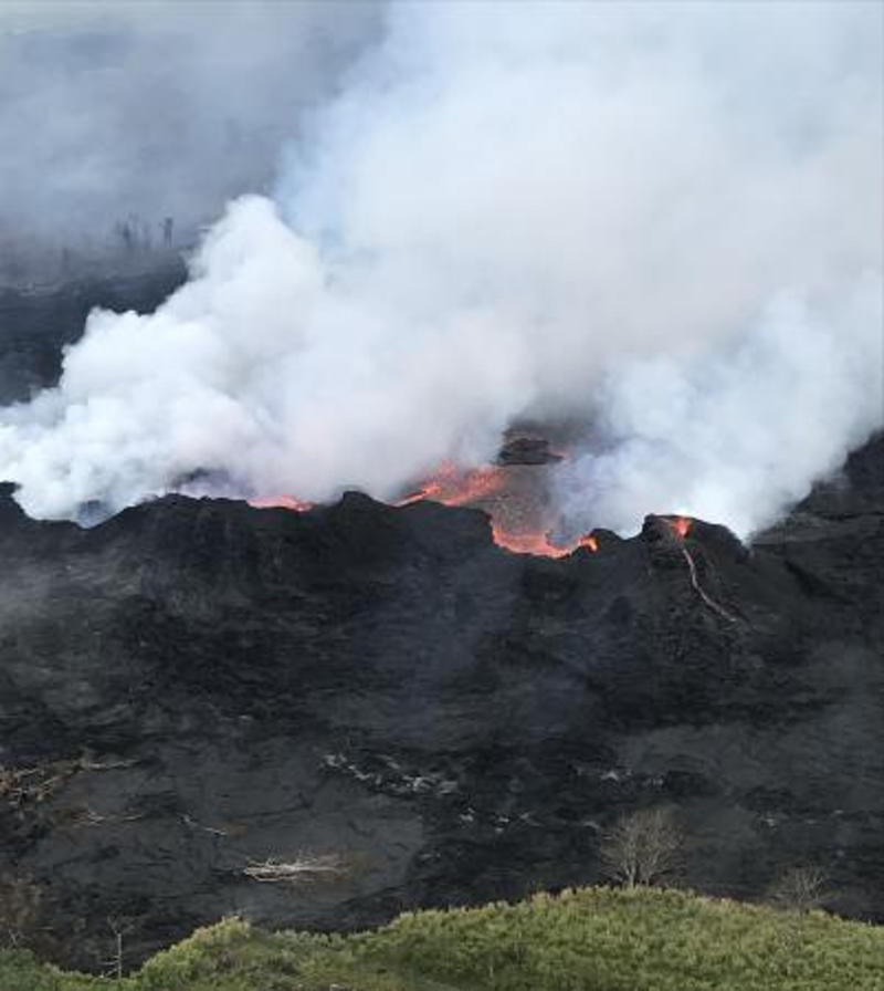 New lava flow crosses onto Hawaii geothermal plant property