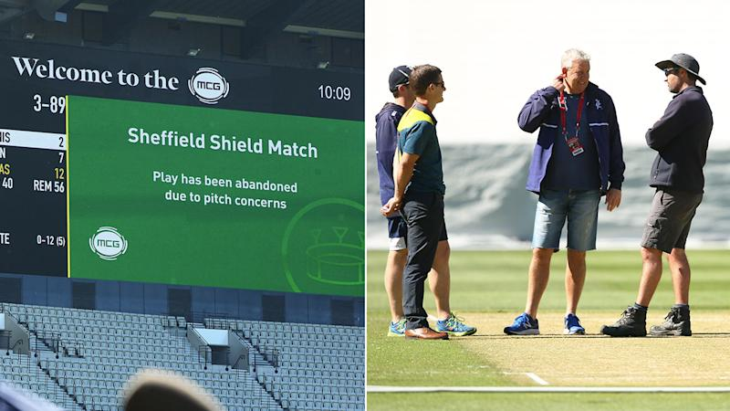 Cricket Australia admits MCG curators got it wrong for the abandoned Sheffield Shield match. Pic: Getty