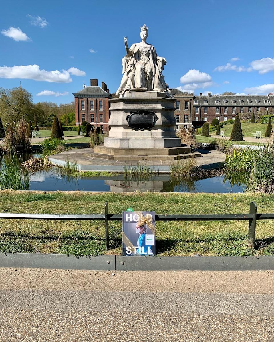 The first Book Fairy copy was placed outside Kate's London home. Some copies have been given to the photographers to leave at places special to them. (Kensington Palace)