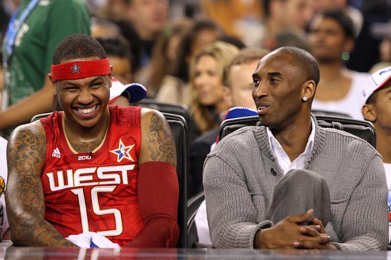 The long friendship between Carmelo Anthony and Kobe Bryant went beyond basketball. (Photo by Jed Jacobsohn/Getty Images)