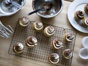 <p>Make store-bought cake frosting go twice as far: Whip the icing with your electric mixer and let air plump it up.</p>