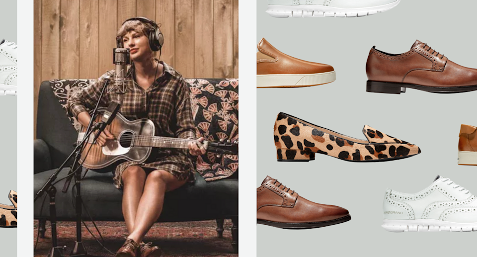 Taylor Swift's go-to shoe brand is up to 60% off right now (Photos via Taylor Swift/Instagram & Cole Haan)