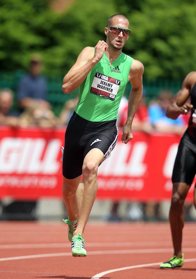 EUGENE, OR - JUNE 25: Jeremy Wariner runs in the Men's 400 meter during the 2011 USA Outdoor Track & Field Championships at Hayward Field on June 25, 2011 in Eugene, Oregon. (Photo by Andy Lyons/Getty Images)