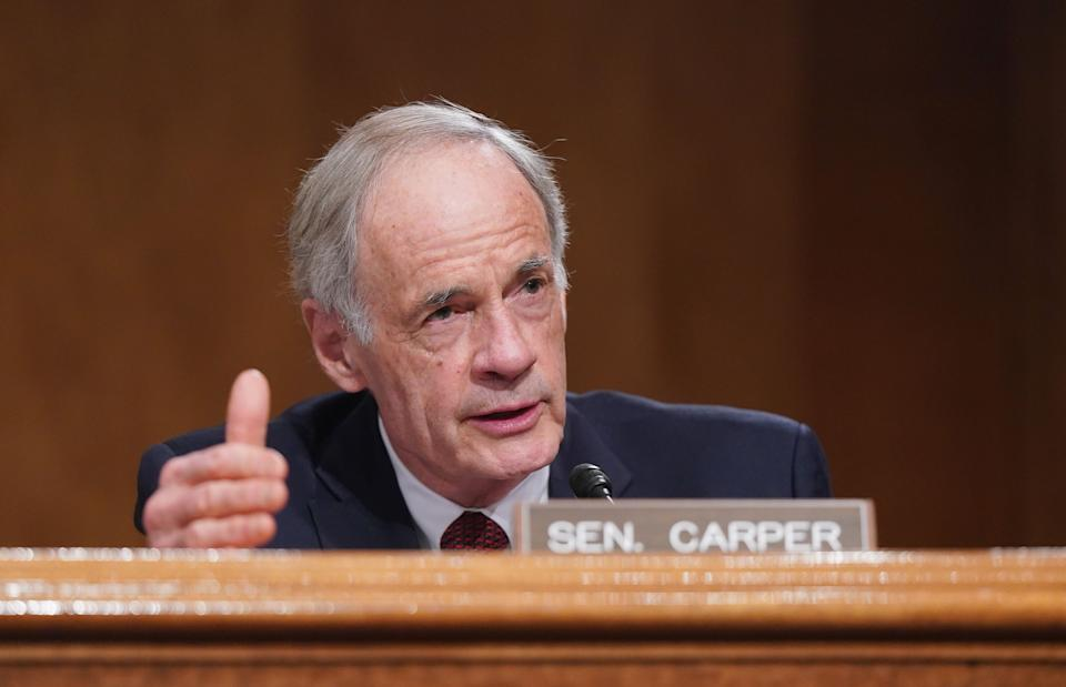Sen. Tom Carper (D-Del.) introduced a proposal to extend unemployment benefits for an additional month, though the weekly payments will be $100 less than in the House-passed bill. (Photo: Leigh Vogel-Pool/Getty Images)
