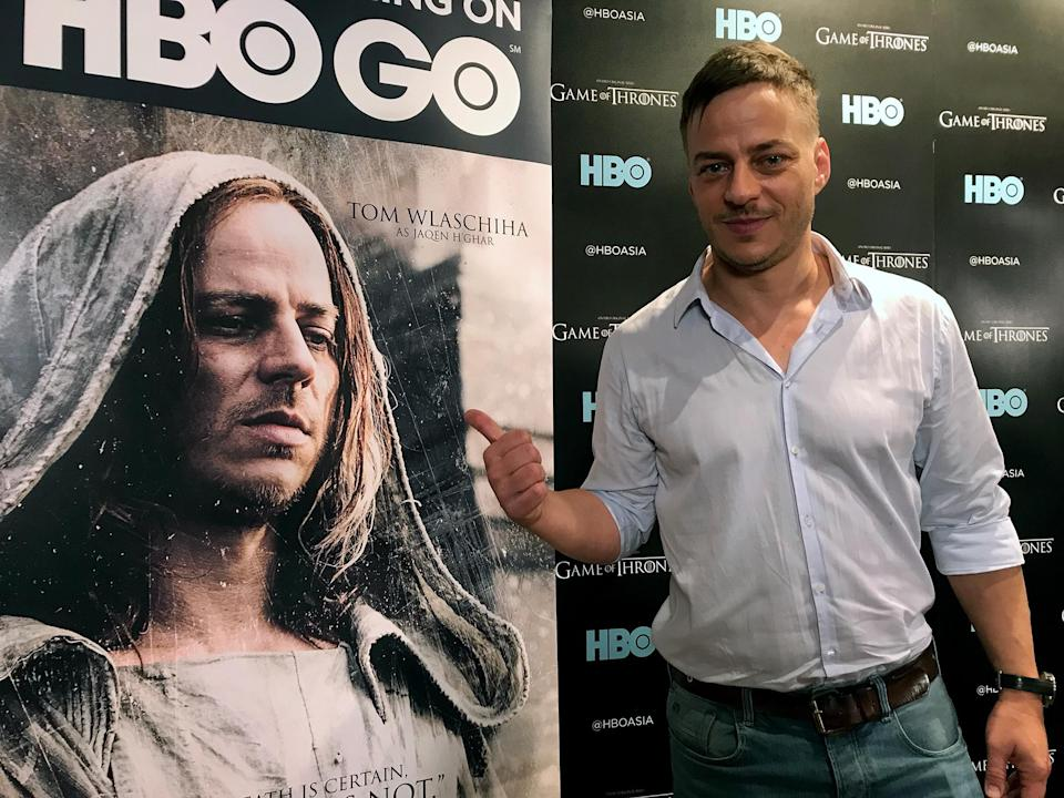 Tom Wlaschiha in Singapore on 1 December, 2017. Photo: Bryan Huang/Yahoo Lifestyle Singapore