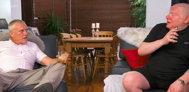 Bez and Shaun Ryder of The Happy Monday's on Celebrity Gogglebox (Credit: Channel 4)