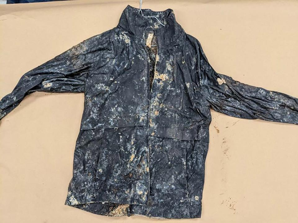 A jacket found at Catoctin Mountain Park in Thurmont belonging to a woman.
