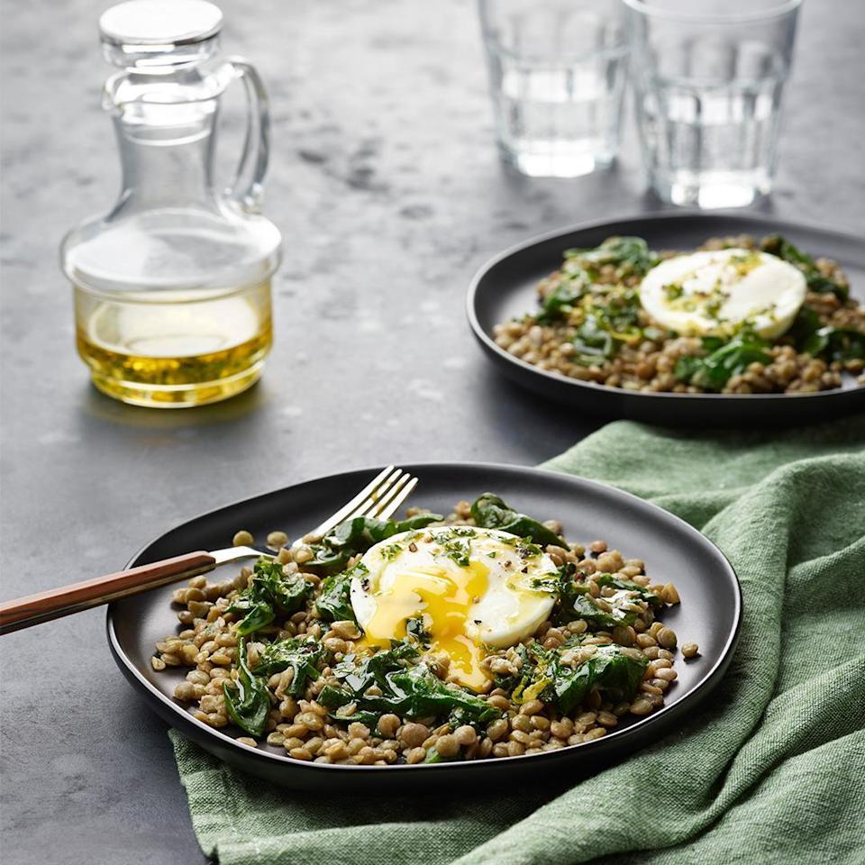 """<p>This hearty lentil and poached egg recipe is made using an Instant Pot. Get the most out of this popular kitchen gadget by using it to make <a href=""""https://www.thedailymeal.com/cook/insanely-easy-instant-pot-breakfast-recipes-slideshow?referrer=yahoo&category=beauty_food&include_utm=1&utm_medium=referral&utm_source=yahoo&utm_campaign=feed"""" rel=""""nofollow noopener"""" target=""""_blank"""" data-ylk=""""slk:Instant Pot breakfast recipes"""" class=""""link rapid-noclick-resp"""">Instant Pot breakfast recipes</a> too.</p> <p><a href=""""https://www.thedailymeal.com/best-recipes/instant-pot-breakfast-lentils-poached-eggs?referrer=yahoo&category=beauty_food&include_utm=1&utm_medium=referral&utm_source=yahoo&utm_campaign=feed"""" rel=""""nofollow noopener"""" target=""""_blank"""" data-ylk=""""slk:For the Lentils and Poached Eggs recipe, click here."""" class=""""link rapid-noclick-resp"""">For the Lentils and Poached Eggs recipe, click here.</a></p>"""