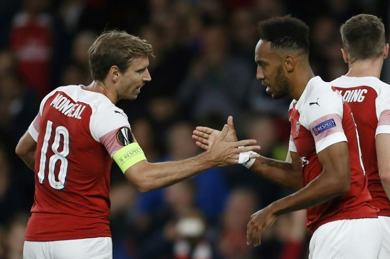 Pierre-Emerick Aubameyang was on target twice in Europe after a slow start to the Premier League season