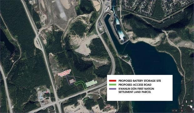 The site will be located on Kwanlin Dün First Nation Settlement Land that overlaps with the traditional territory of the Ta'an Kwäch'än Council. (Yukon Energy - image credit)