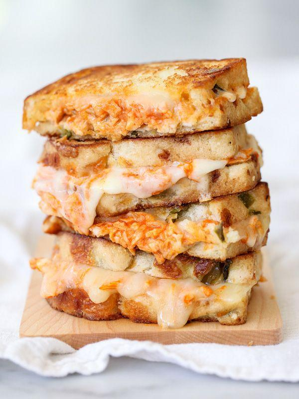 """<p>Smoky, saucy, and plenty cheesy. </p><p>Get the recipe from <a href=""""http://www.foodiecrush.com/2014/05/buffalo-chicken-grilled-cheese-recipe/"""" rel=""""nofollow noopener"""" target=""""_blank"""" data-ylk=""""slk:Foodie Crush"""" class=""""link rapid-noclick-resp"""">Foodie Crush</a>.</p>"""