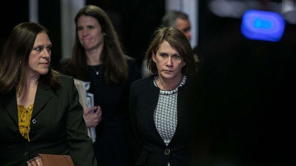 PHOTO: Forensic psychologist Dr. Barbara Ziv leaves with Prosecutor Joan Illuzzi-Orbon at New York City Criminal Court for the continuation of this trial, Jan. 24, 2020, in New York City. (Jeenah Moon/Getty Images)