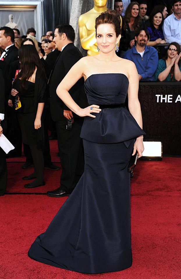 Tina Fey arrives at the 84th Annual Academy Awards in Hollywood, CA.