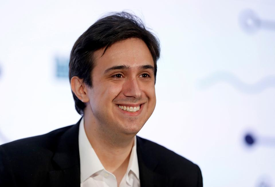 Tezos co-founder and CTO Arthur Breitman smiles during the Money 20/20 conference in Las Vegas, Nevada, U.S. on October 24, 2017. REUTERS/Steve Marcus