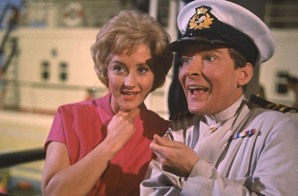 Liz Fraser with Carry On co-star Kenneth Williams (Credit Rex Features)