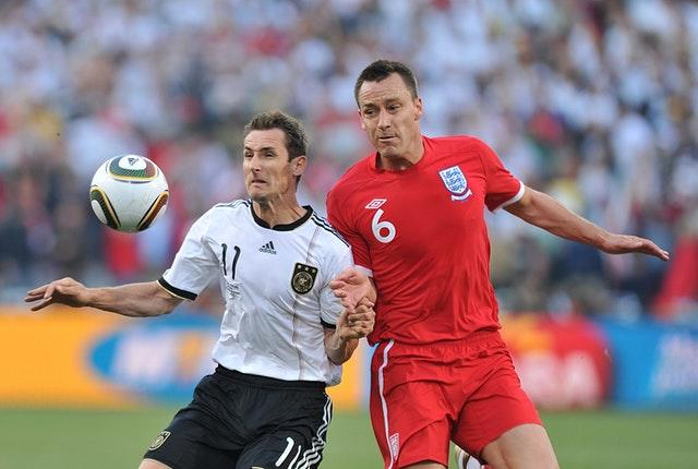 John Terry, right, played 78 times for England (Martin Rickett/PA)