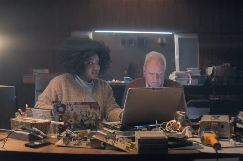 Susan Wokoma and Malcolm McDowell in Truth Seekers. (Amazon)