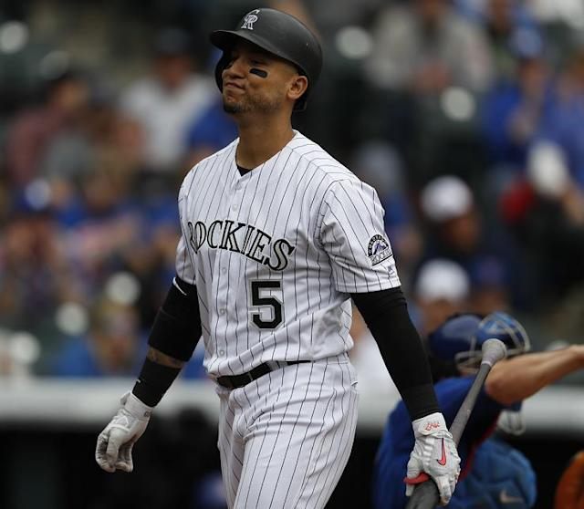 Carlos Gonzalez reportedly turned down a three-year, $45 million extension from the Rockies last spring. (AP)