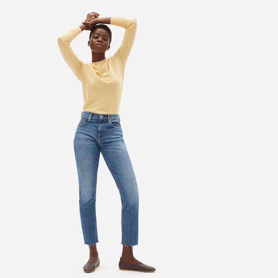 <p><span>Everlane's The Original Cheeky Jean</span> ($78) are perfect for those in the mood for relaxed, raw-edge denim.</p>
