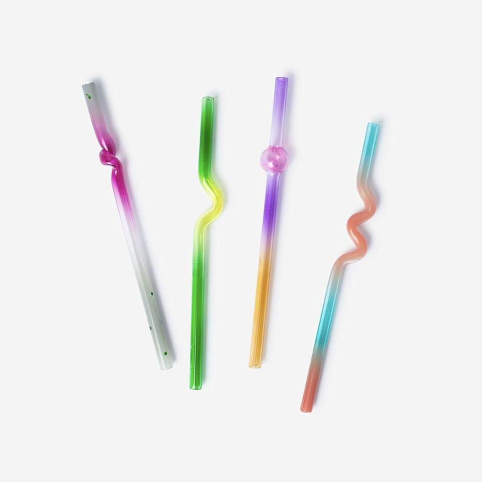 """<p><strong>Misha Khan</strong></p><p>prospectny.com</p><p><strong>$90.00</strong></p><p><a href=""""https://www.prospectny.com/collections/all/products/suck-it-up-cocktail-straw-case-set-of-4"""" rel=""""nofollow noopener"""" target=""""_blank"""" data-ylk=""""slk:Shop Now"""" class=""""link rapid-noclick-resp"""">Shop Now</a></p><p>Eco-friendly and fabulous, Misha Khan's """"suck it up"""" straws are a happy hour must-have.</p>"""
