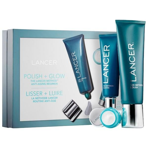 <p>The three goodies in this <span>Lancer Skincare The Method: Polish and Glow</span> ($80, originally $89) kit make a full skin-care routine with an exfoliator, cleanser, and a cream (and they're originally valued at $120 total, too).</p>