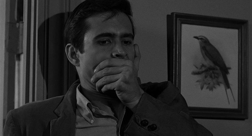 Anthony Perkins as Norman Bates in 1960's <i>Psycho</i>.