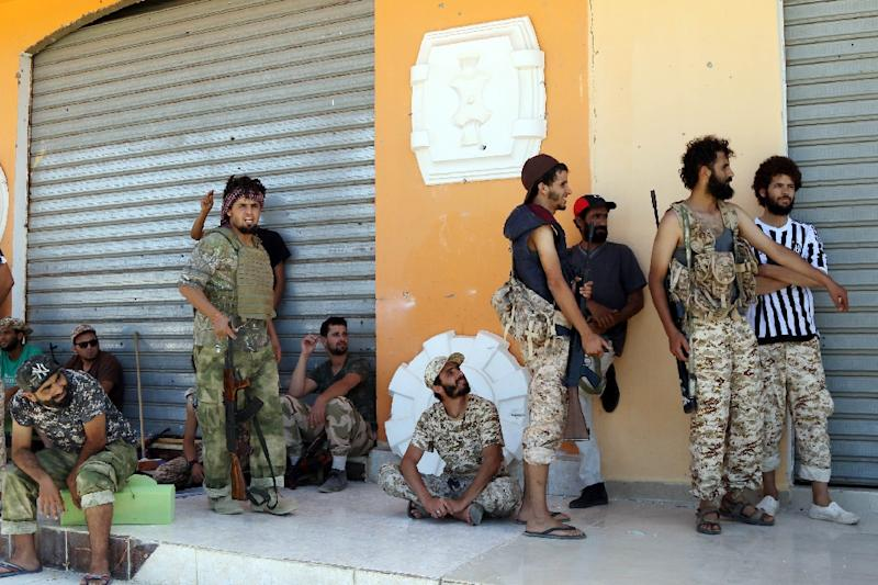 Forces loyal to Libya's UN-backed unity government used tanks, rocket launchers and artillery, in heavy street fighting to retake Sirte from the Islamic State group (AFP Photo/Mahmud Turkia)