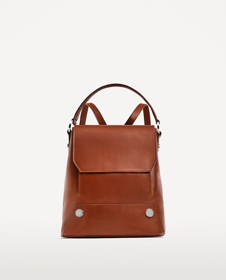 "<div>Leather backpack with buttons - <a rel=""nofollow"" href=""https://www.zara.com/uk/en/woman/bags/view-all/leather-backpack-with-buttons-c819022p4617512.html"">£79.99</a></div>"