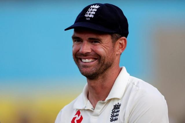 FILE PHOTO: England fast bowler James Anderson