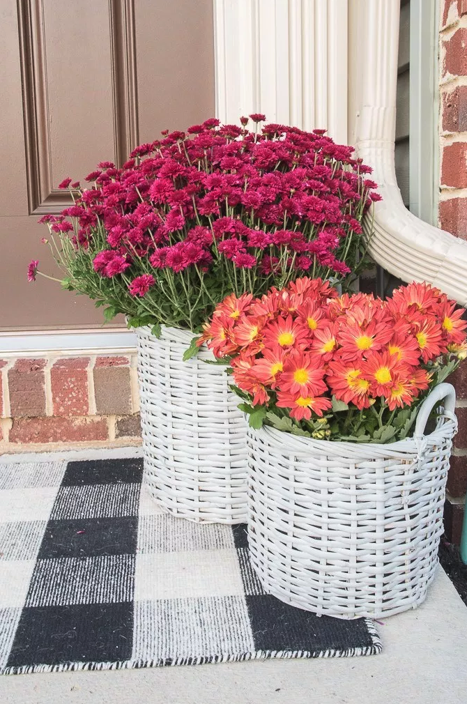 """<p> <span>Because clay pots don't exactly scream Easter, </span>recycled baskets <span>painted in white or pastels c</span><span>an serve as planters for the big holiday.</span><br></p><p><span><a href=""""https://www.keystoinspiration.com/easy-upcycled-basket-planters/"""" rel=""""nofollow noopener"""" target=""""_blank"""" data-ylk=""""slk:Get the tutorial at Keys to Inspiration »"""" class=""""link rapid-noclick-resp""""><em>Get the tutorial at Keys to Inspiration »</em></a><br></span></p>"""