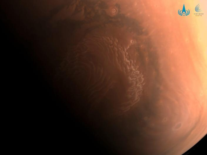 Mars photographed by china tianwen-1 orbiter