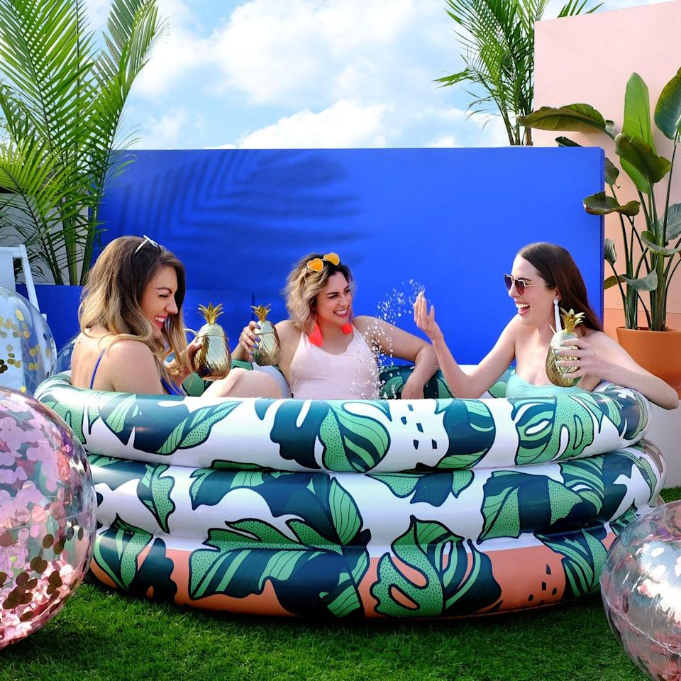 "<p>It's hard to go wrong with the <a href=""https://www.popsugar.com/buy/BananaLeaves-Luxe-Inflatable-Pool-585131?p_name=That%27s%20Banana%28Leave%29s%20Luxe%20Inflatable%20Pool&retailer=minnidip.com&pid=585131&price=45&evar1=tres%3Aus&evar9=44816431&evar98=https%3A%2F%2Fwww.popsugar.com%2Fphoto-gallery%2F44816431%2Fimage%2F47576673%2FThat-BananaLeaves-Luxe-Inflatable-Pool&list1=pools%2Csummer%2Cnostalgia&prop13=api&pdata=1"" class=""link rapid-noclick-resp"" rel=""nofollow noopener"" target=""_blank"" data-ylk=""slk:That's Banana(Leave)s Luxe Inflatable Pool"">That's Banana(Leave)s Luxe Inflatable Pool</a> ($45). It is stylish, can fit up to three adults, and will inflate in minutes. Get ready, this one is restocking at the end of July. </p>"