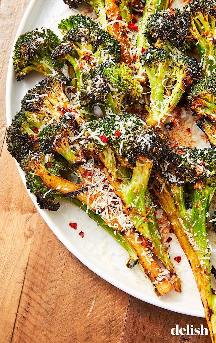 """<p>This will make ANYONE want to eat their vegetables.</p><p>Get the recipe from <a href=""""https://www.delish.com/cooking/recipe-ideas/a27185834/grilled-broccoli-recipe/"""" rel=""""nofollow noopener"""" target=""""_blank"""" data-ylk=""""slk:Delish"""" class=""""link rapid-noclick-resp"""">Delish</a>.</p>"""
