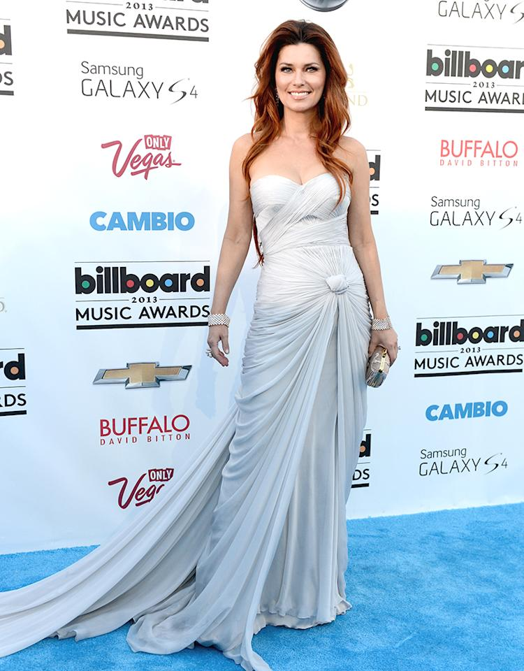 LAS VEGAS, NV - MAY 19:  Singer Shania Twain arrives at the 2013 Billboard Music Awards at the MGM Grand Garden Arena on May 19, 2013 in Las Vegas, Nevada.  (Photo by Denise Truscello/WireImage)