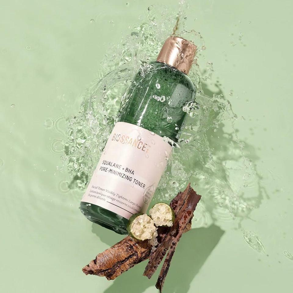 <p>Control breakouts without drying out your skin with the <span>Biossance Squalane + BHA Pore-Minimizing Toner</span> ($28).</p>
