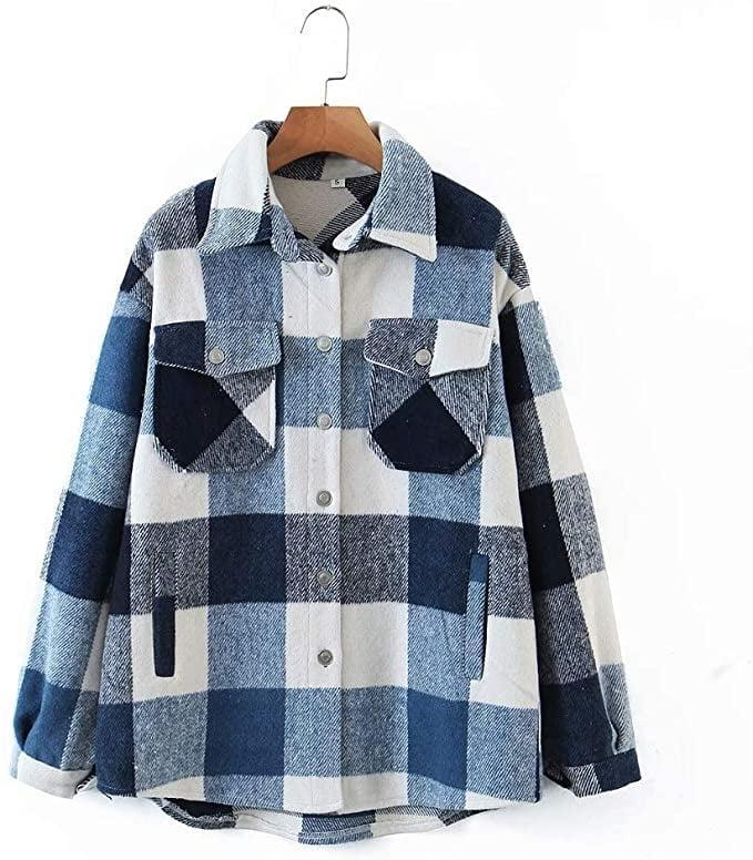 <p>This affordable <span>Casual Wool-Blend Plaid Shacket</span> ($40) looks great with blue jeans.</p>