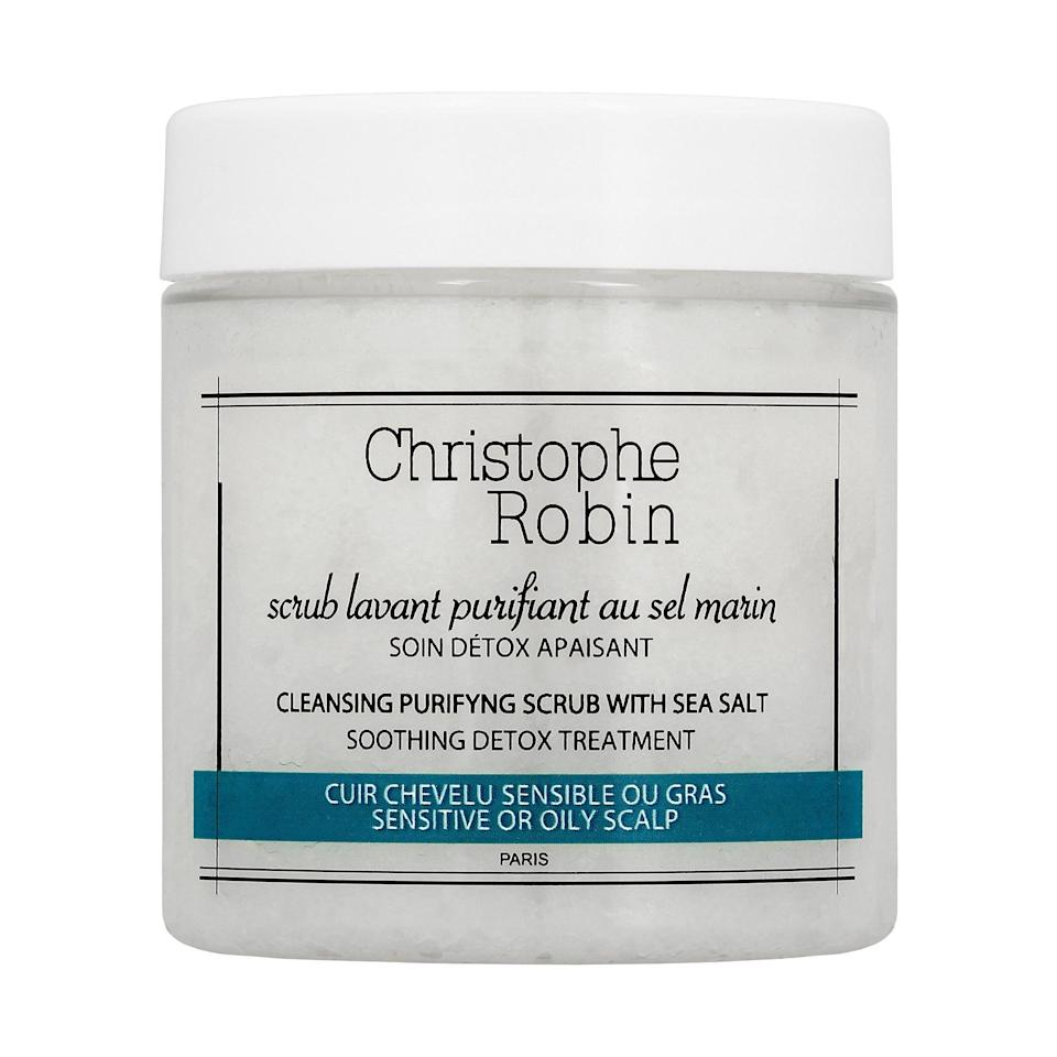 """<p><strong>Christophe Robin</strong></p><p>sephora.com</p><p><strong>$19.00</strong></p><p><a href=""""https://go.redirectingat.com?id=74968X1596630&url=https%3A%2F%2Fwww.sephora.com%2Fproduct%2Fpurifying-scalp-scrub-with-sea-salt-P401452&sref=https%3A%2F%2Fwww.cosmopolitan.com%2Fstyle-beauty%2Fbeauty%2Fg20716291%2Fbest-clarifying-shampoo%2F"""" rel=""""nofollow noopener"""" target=""""_blank"""" data-ylk=""""slk:Shop Now"""" class=""""link rapid-noclick-resp"""">Shop Now</a></p><p>If most hair products leave your scalp itchy, oily, or irritated, Christophe Robin's all-natural sea salt <a href=""""https://www.cosmopolitan.com/style-beauty/beauty/g26114920/best-scalp-scrubs/"""" rel=""""nofollow noopener"""" target=""""_blank"""" data-ylk=""""slk:scrub"""" class=""""link rapid-noclick-resp"""">scrub</a> has your name all over it. The hero ingredient in this formula is—you guessed it—<strong>sea salt, which gently exfoliates and cleanses your scalp and hair</strong>, and it's also spiked with sweet almond oil to help hydrate your curls too.</p>"""