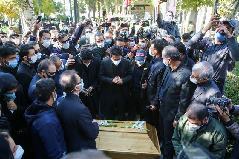 Iranian composer and opposition figure Shajarian buried near national poet