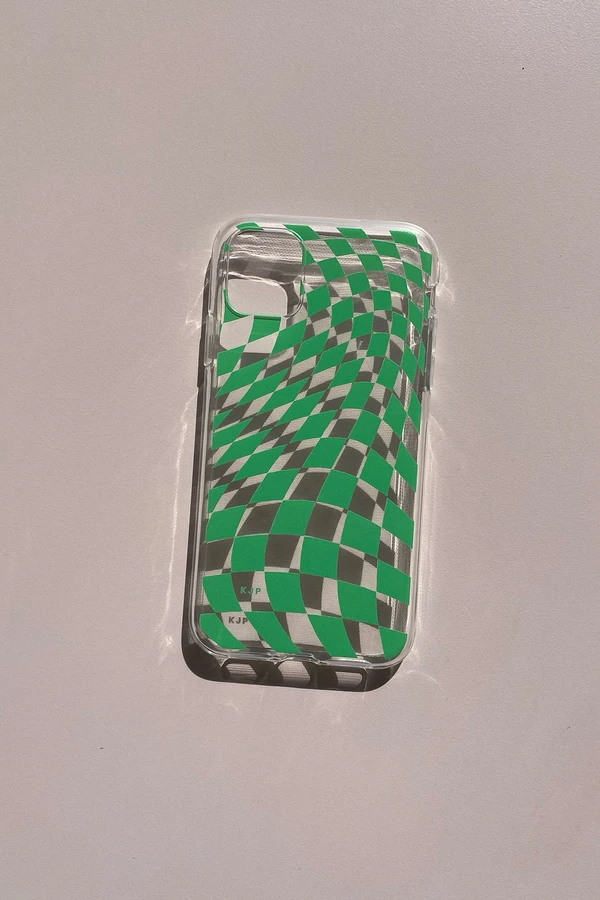 "Friends don't let friends crack another phone screen. <br><br><strong>Lisa Says Gah x KJP</strong> iPhone Case - Green Warp Check, $, available at <a href=""https://go.skimresources.com/?id=30283X879131&url=https%3A%2F%2Flisasaysgah.com%2Fcollections%2Fgifts%2Fproducts%2Fiphone-case-green-warp-check%3Fvariant%3D32540711321662"" rel=""nofollow noopener"" target=""_blank"" data-ylk=""slk:Lisa Says Gah"" class=""link rapid-noclick-resp"">Lisa Says Gah</a>"
