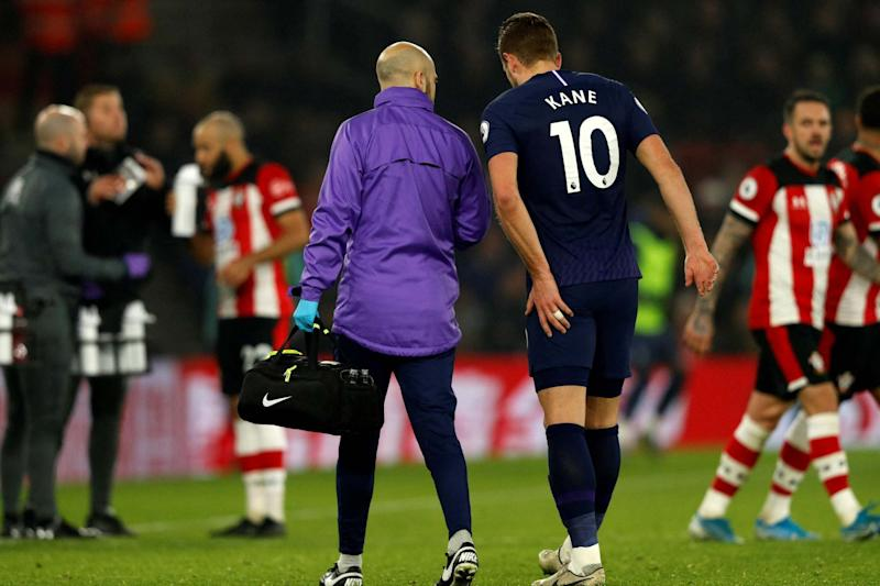 Harry Kane is not expected to return to training until April (AFP via Getty Images)