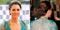 <p>A Royal-approved looped and coiled up-do</p>